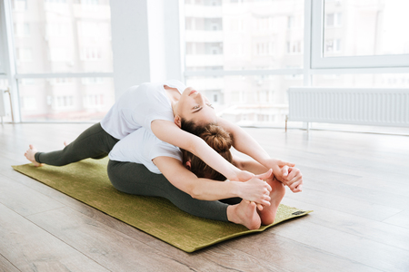 Pashcimottanasana Seated Forward Bend + Matsyasana Fish Pose